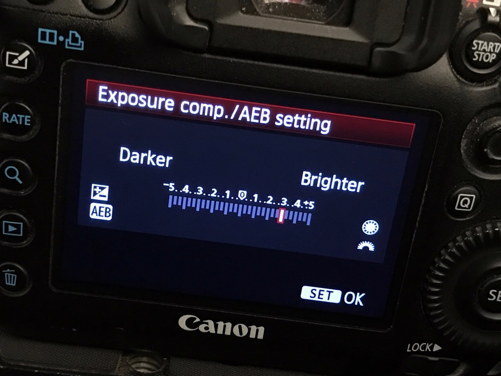 combat backlighting with exposure compensation
