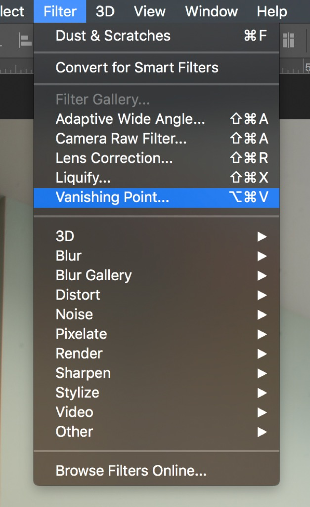 vanishing point filter