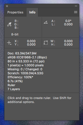 Customize Photoshop's Info Panel