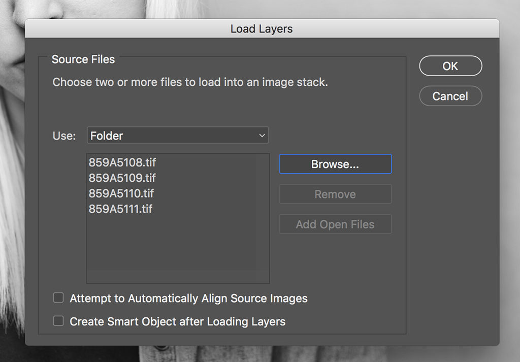 Crop To Open Images As Same-Sized Layers