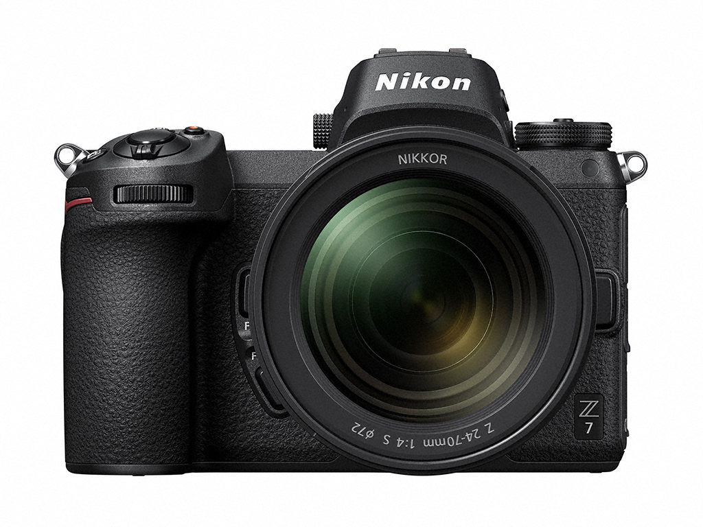 The 45.7-megapixel Nikon Z 7 shown with the NIKKOR Z 24-70mm f/4 S.