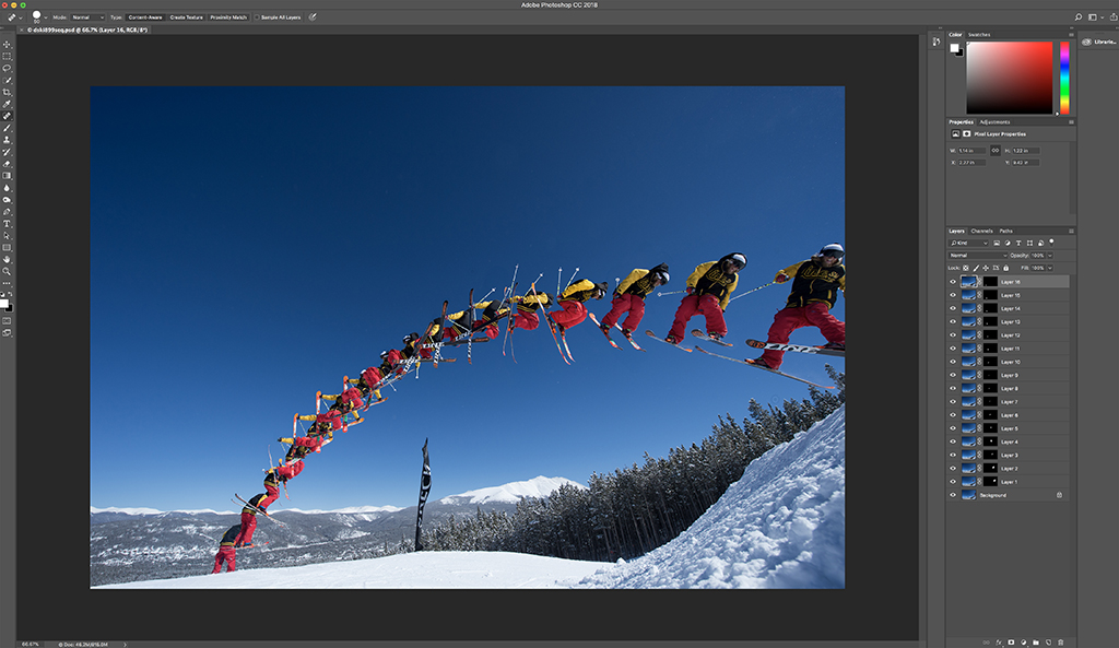 Step 6: Final image showing all the layers of individual images with masks.