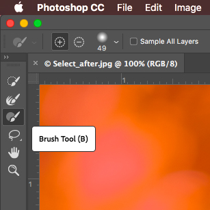 Brush-On Selections In Photoshop