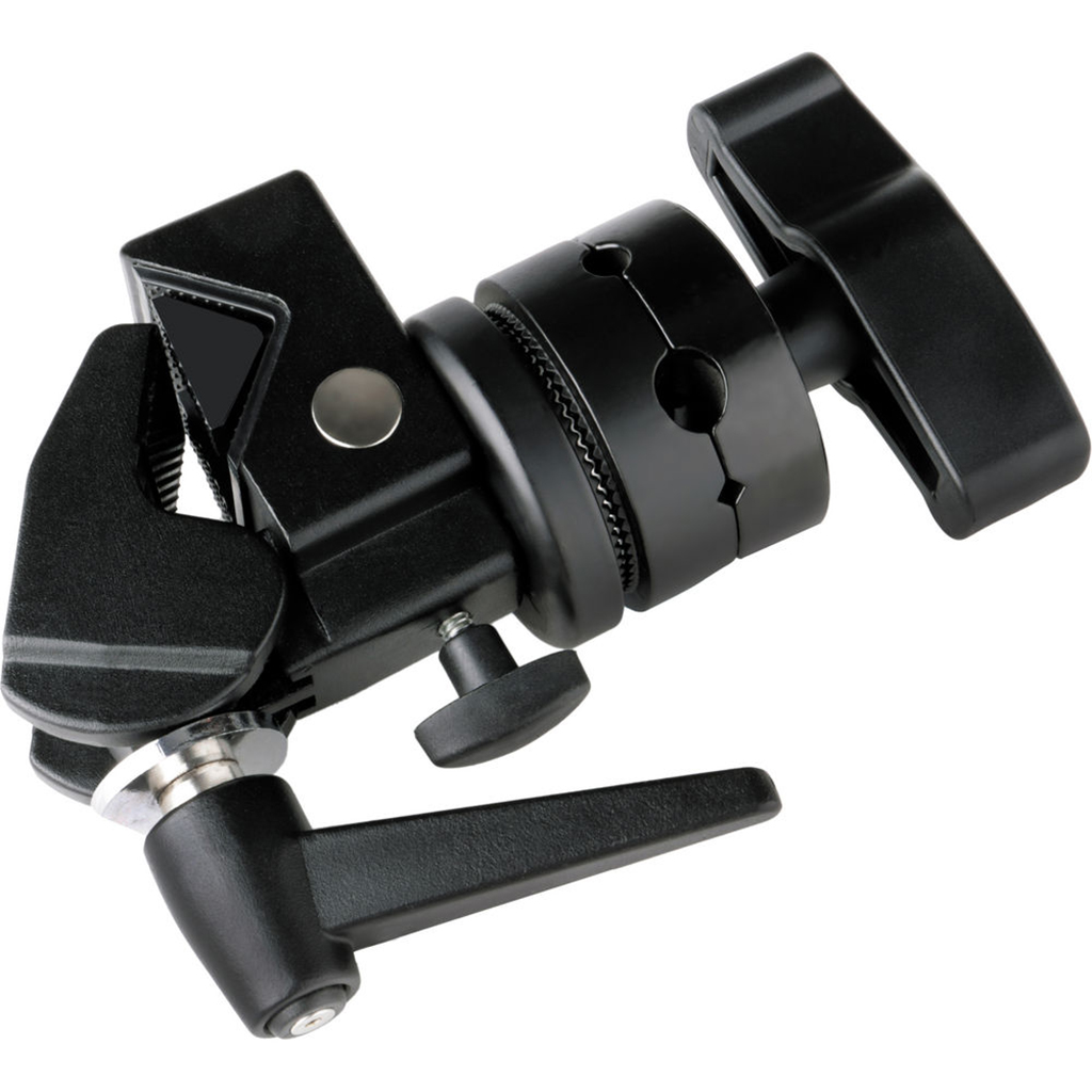 There are thousands of different lighting accessories available. This super clamp is one of them, and is designed to attach lights to just about any pole you encounter.